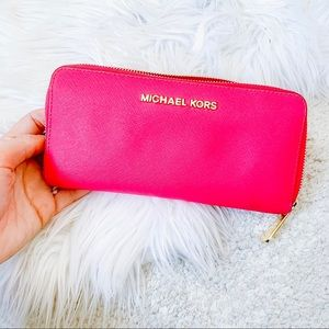 Michael Kors hot pink wallet